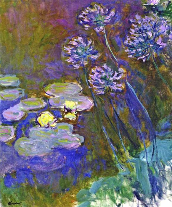 40. Claude Monet, Water Lilies And Agapanthus, 1914-1917