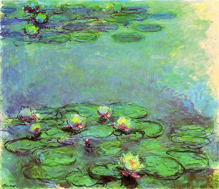 42. Claude Monet, Water Lilies (7), 1914-1917