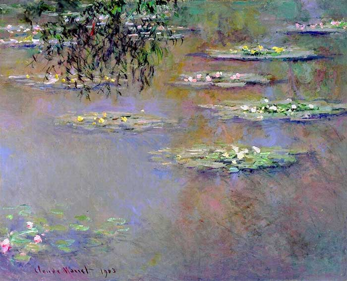 6. Claude Monet, Water Lilies, 1903