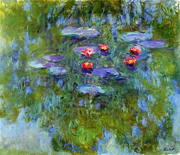 Claude Monet, Water Lilies, 1916-1919