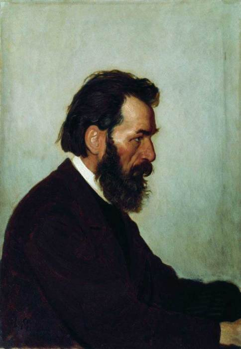 Ilya Repin, Portrait Of A.I. Shevtsov, 1869
