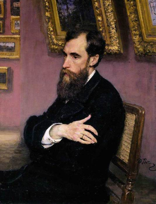 Ilya Repin, Portrait Of Pavel Tretyakov, Founder Of The Tretyakov Gallery, 1883