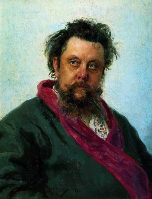 Ilya Repin, Portrait Of The Composer Modest Musorgsky, 1881