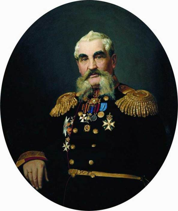 Ilya Repin, Portrait Of The Military, 1866