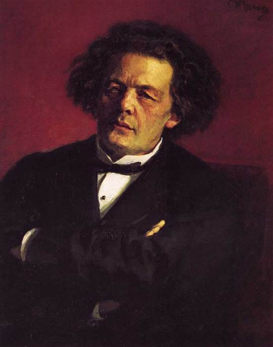 Ilya Repin, Portrait Of The Pianist, Conductor And Composer Anton Grigorievich Rubinstein, 1881