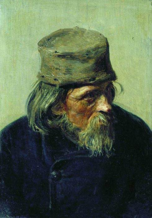 Ilya Repin, Seller Of Student Works At The Academy Of Arts, 1870