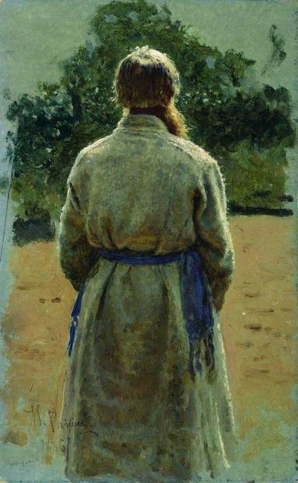 Ilya Repin, The Sergeant, From The Back, Lit By The Sun, 1885