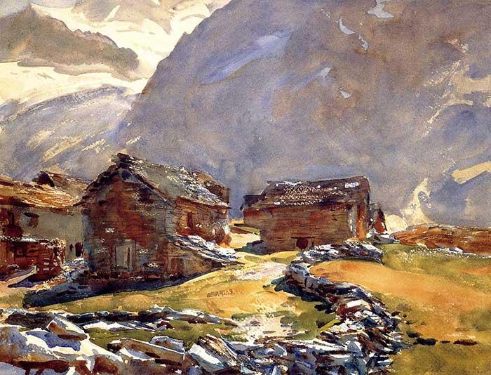 John Singer Sargent, Simplon Pass Chalets, 1911
