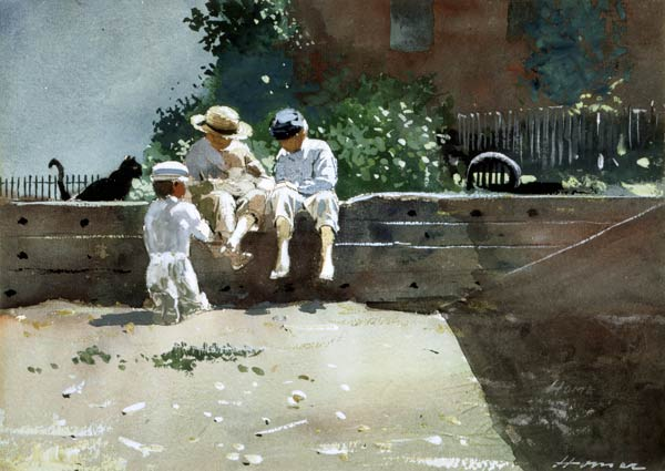 Winslow Homer, Boys And Kitten, 1873