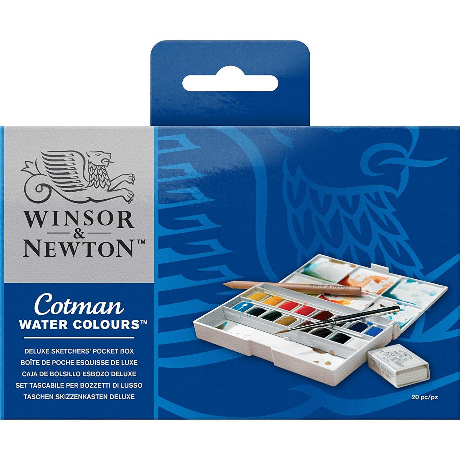 Winsor & Newton Cotman Watercolor Deluxe Set - Watercolor Art Supplies For Beginners