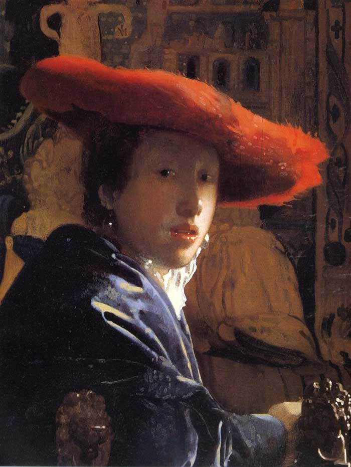 Johannes Vermeer, Girl With The Red Hat, 1665-1667