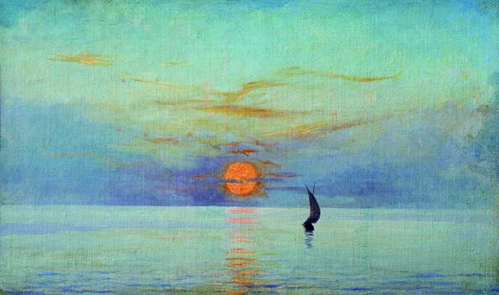 Mykola Yaroshenko, Sunset, How To Paint A Sunset