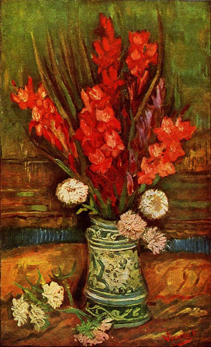 Vincent van Gogh, Still Life - Vase With Red Gladiolas, 1886
