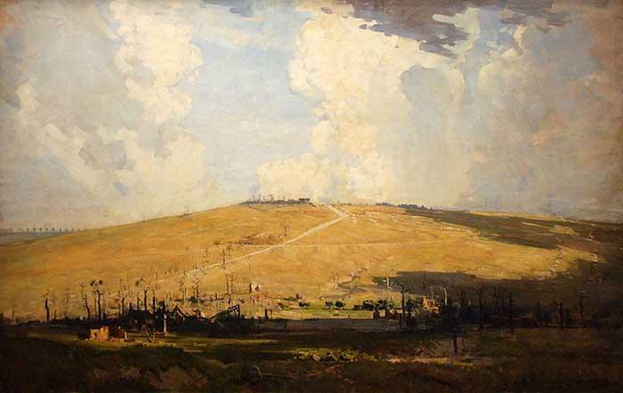 Arthur Streeton, Mount St Quentin, 1918