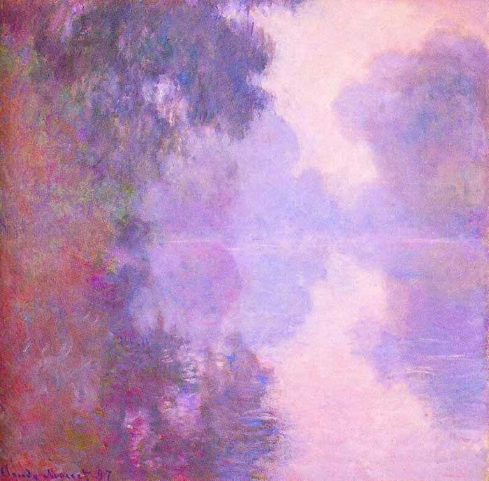 Claude Monet, Misty Morning On The Seine, 1897
