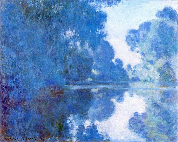 Claude Monet, Morning On The Seine, 1897