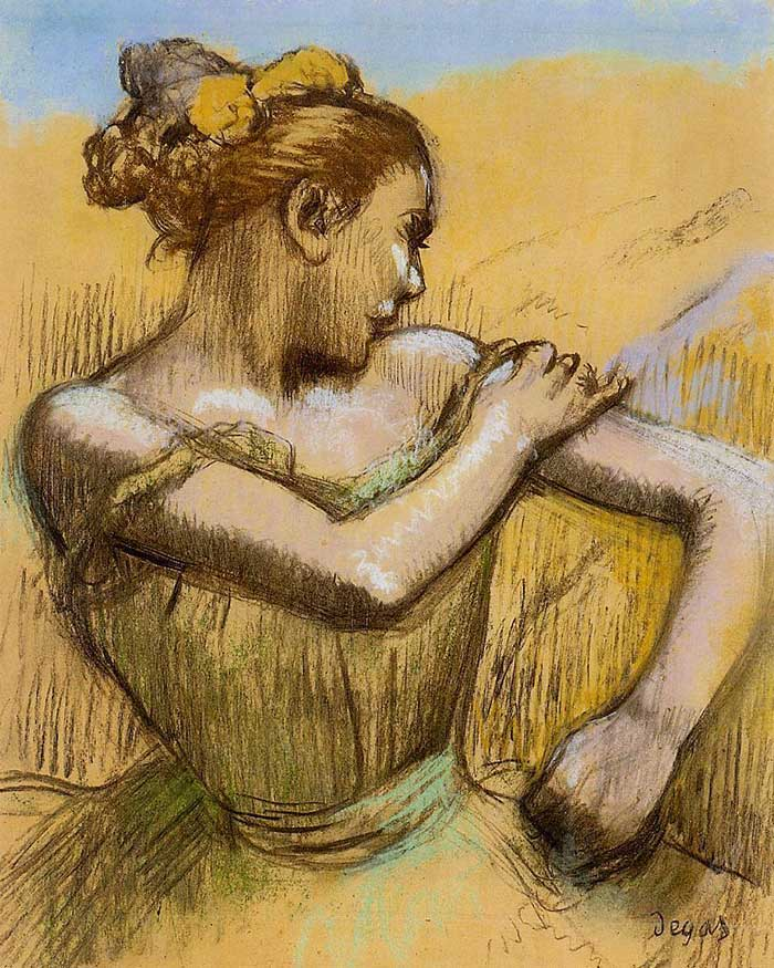 Inspirational Drawing Quotes - Edgar Degas, Torso Of A Dancer, 1899