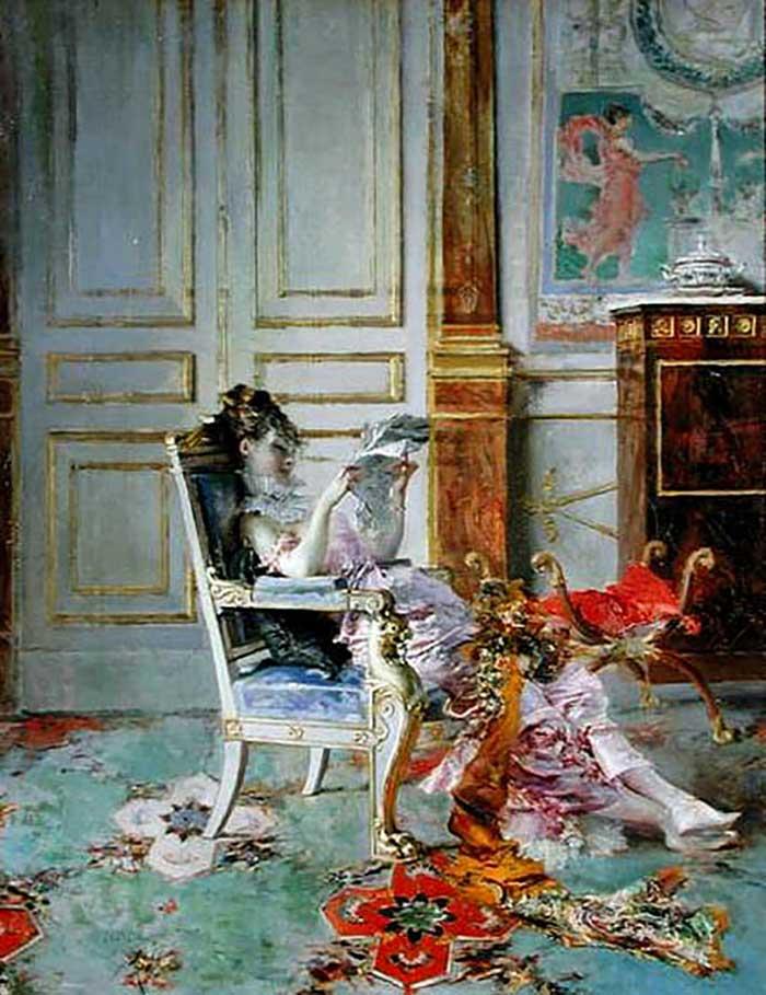 Giovanni Boldini Woman | Portrait Inspiration | Giovanni Boldini, Girl Reading In A Salon, 1876