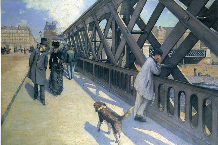 One Point Perspective | Drawing | Painting | One Point Perspective Art Lessons | Gustave Caillebotte, Le Pont L'Europe, 1881-1882
