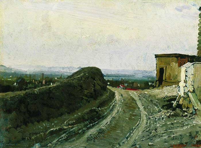 Ilya Repin, The Road From Montmartre In Paris, 1875-1876