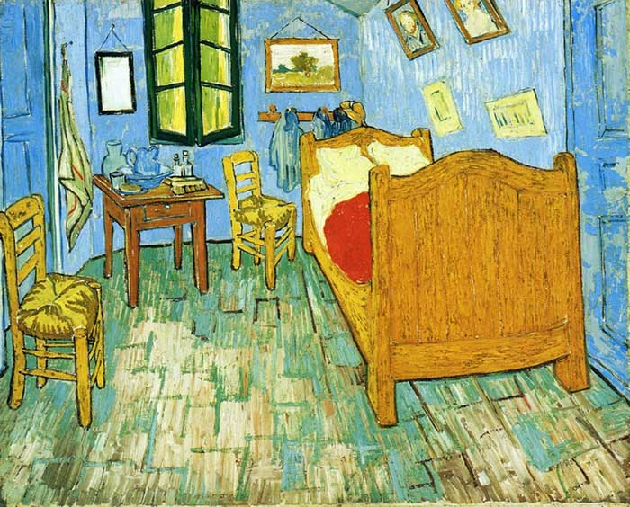 One Point Perspective | Drawing | Painting | One Point Perspective Art Lessons | Vincent van Gogh, Vincent's Bedroom In Arles, 1889