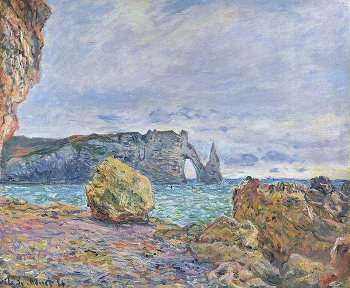 Claude Monet, Etretat, The Beach And The Porte d'Aval, 1883