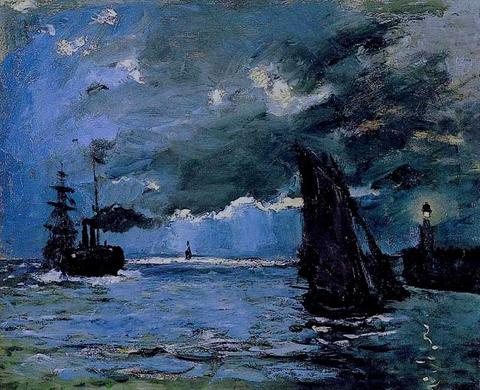Claude Monet, Seascape, Night Effect, 1866