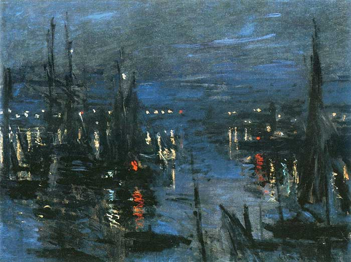 Low Key Painting | Low Key Color | Claude Monet, The Port Of Le Havre, Night Effect, 1873