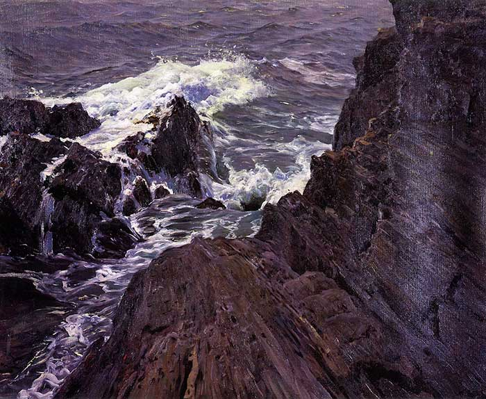 Frederick Judd Waugh, East Coast Bailey's Island, Casco Bay, 1909