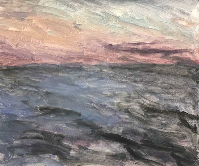 Oil Stain - Frazer Island At Sunset