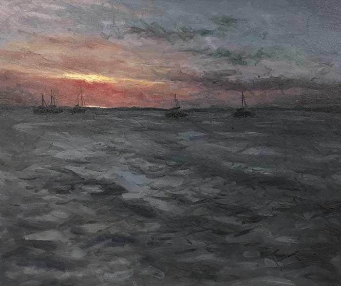 Frazer Island At Sunset