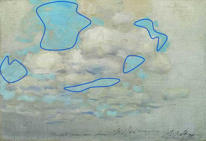 positive and negative space - Clouds
