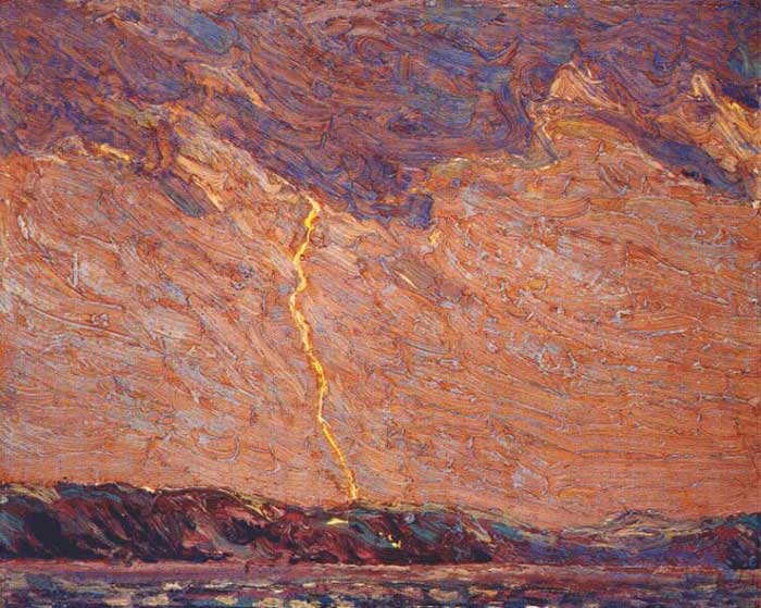 Tom Thomson, Lightning, Canoe Lake, 1915