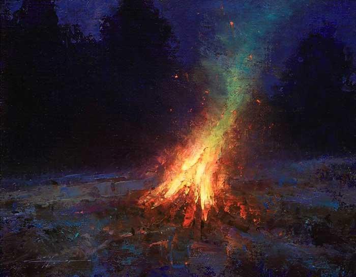 Brent Cotton, Bonfire At Twilight