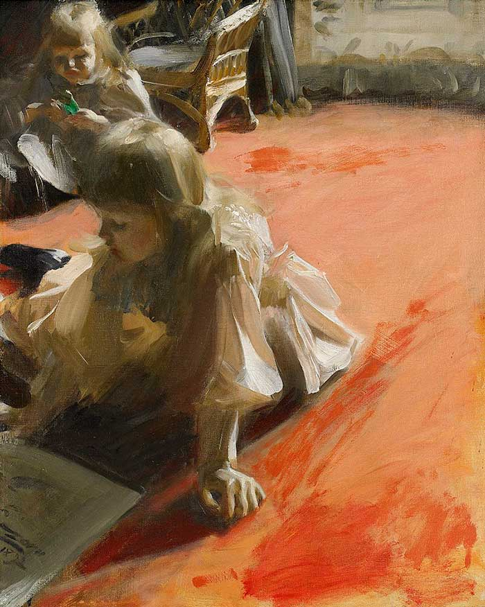 Anders Zorn, A Portrait of the Daughters of Ramón Subercaseaux, 1892