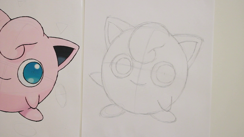How to Draw Jigglypuff - Step 1 - Basic Shape and Form