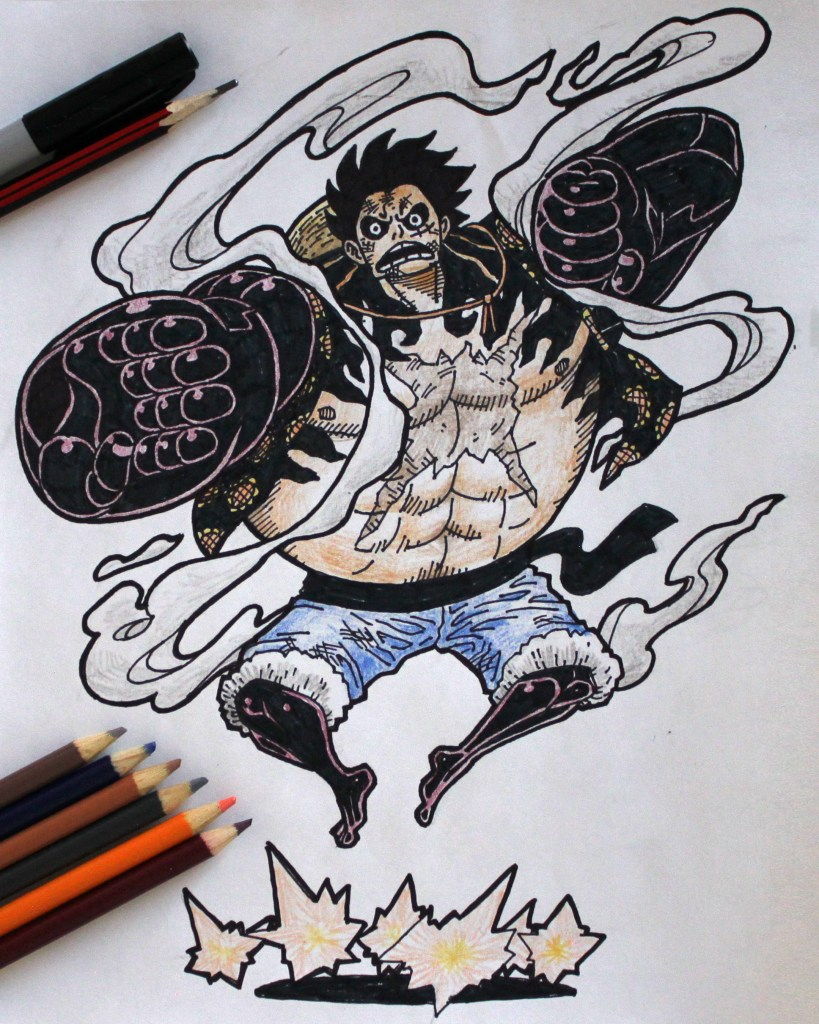 Gear Fourth Bounce Man Luffy Drawing