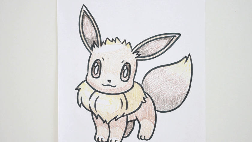 How to Draw Eevee - Step 5 - Color in Shadow