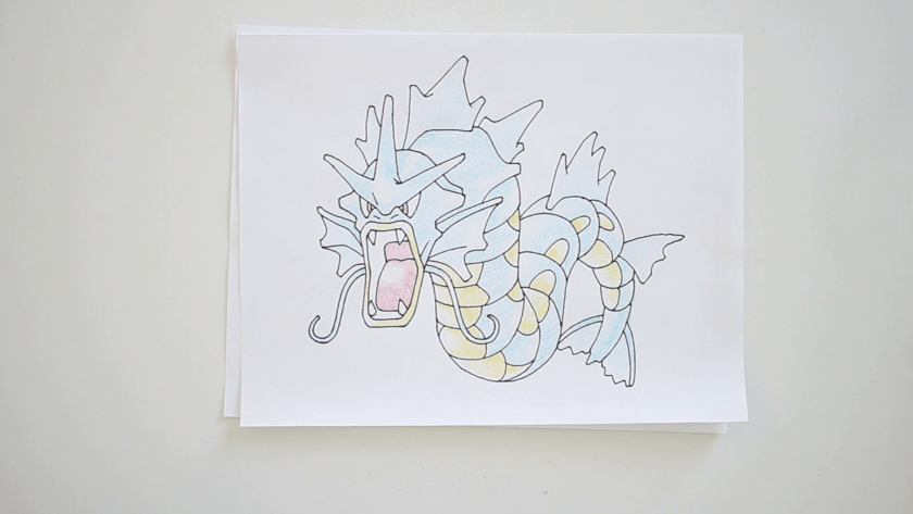 How to Draw Gyarados - Step 5 - Color in Midtone