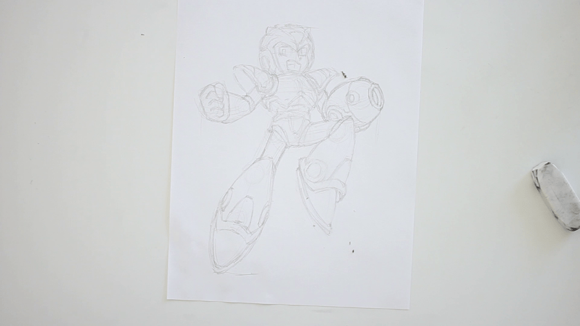 How to Draw Megaman X - Step 3 - Clothed Figure Drawing