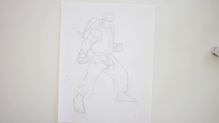 How to Draw Ryu - Step 3 - Clothed Figure Drawing
