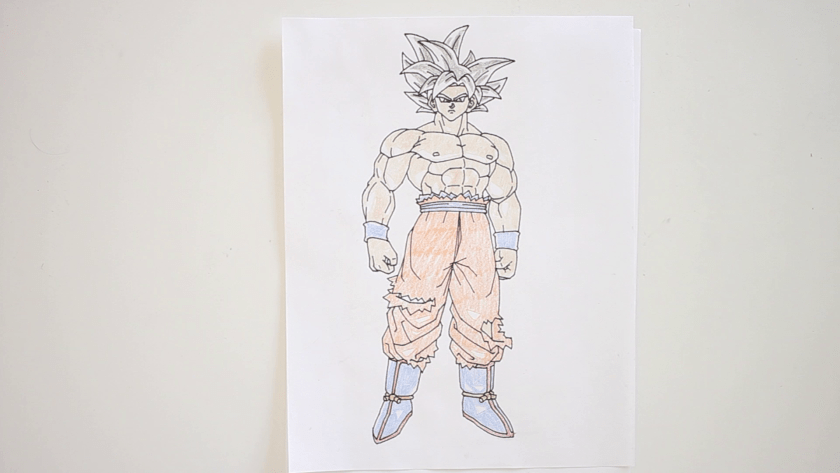 How to Draw Ultra Instinct Goku - Step 6 - Color in Midtone