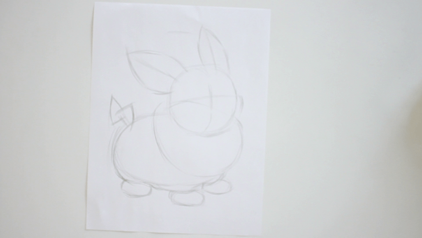 How to Draw Yamper - Step 1 - Basic Shape and Form