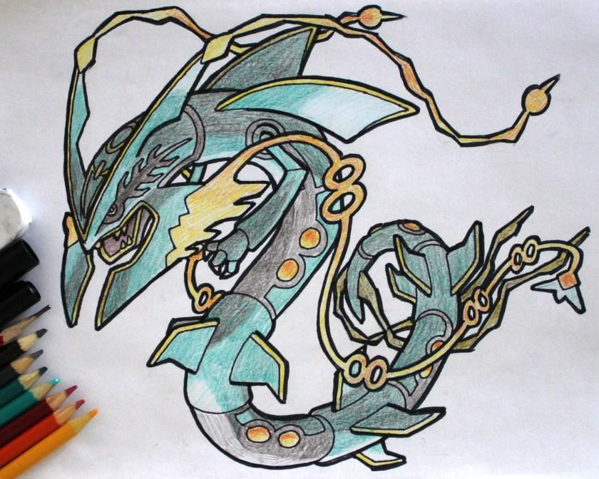 Mega Rayquaza Drawing