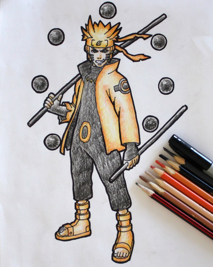 Six Paths Sage Mode Naruto Drawing