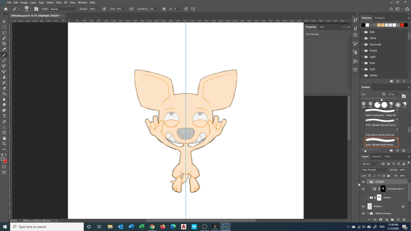 How to Draw Chihuahua - Step 6A - Rough Highlight