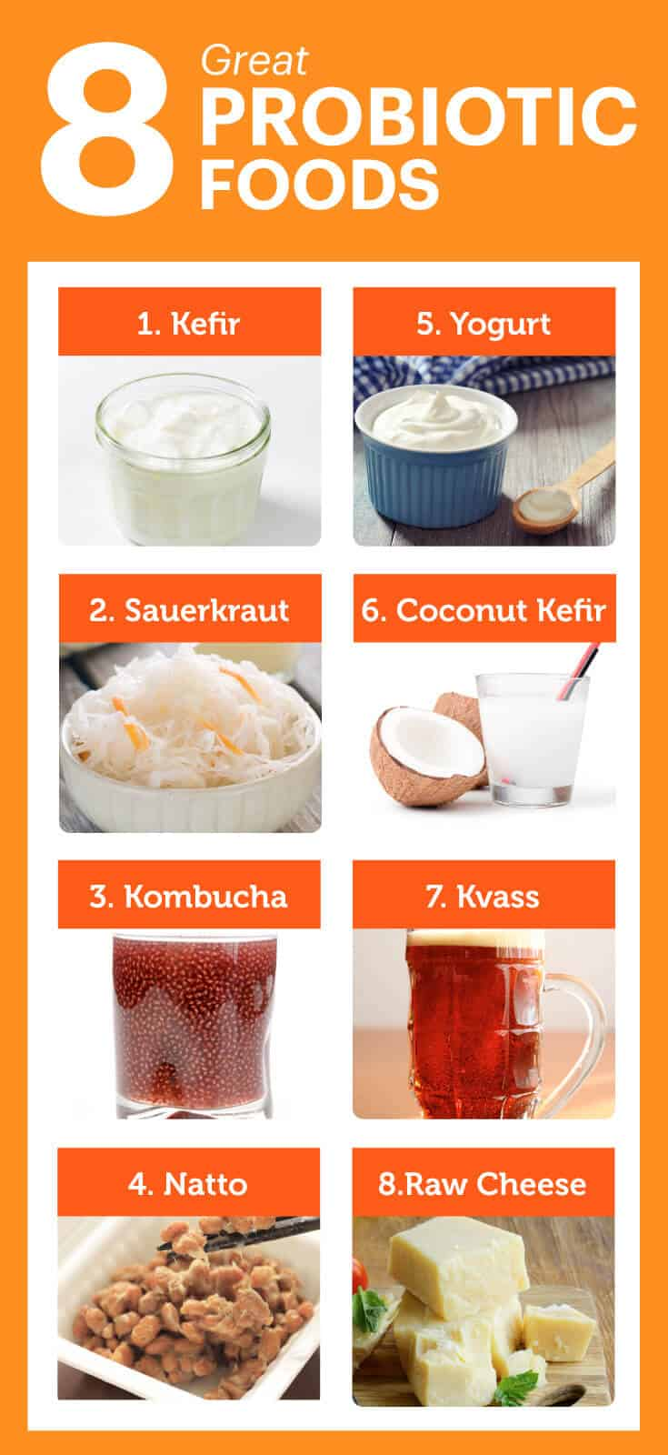 probiotic foods List Chart