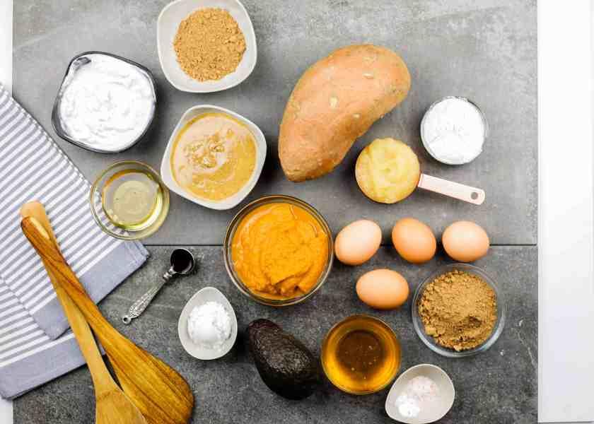 Sweet potato brownies ingredients - Dr. Axe