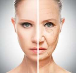 Aging And Skin Care woman's face