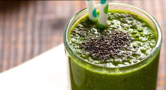 Chia seed Green smoothie